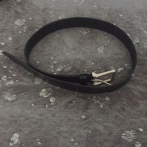 American Eagle, Black, Leather belt, S-M.